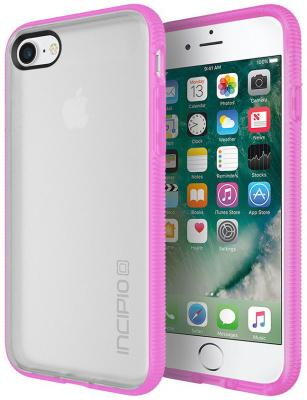 Чехол Incipio Octane для iPhone 7. Материал пластик. Цвет прозрачный/розовый. чехол накладка для iphone 6 ozaki o coat 0 3 jelly oc555tr пластик прозрачный