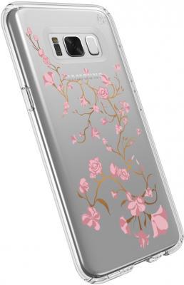 Чехол Speck Presidio Clear+Print для Samsung Galaxy S8 пластик Golden Blossoms Pink/Clear 90254-5754