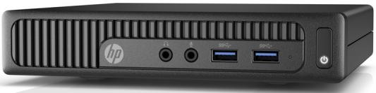Неттоп HP 260 G2 Mini Intel Celeron-3855U 4Gb SSD 32 Intel HD Graphics 520 Windows 10 черный 1KP11ES mini pc dual core 6 ethernet lan router firewall intel celeron 1037u pfsense fanless desktop industrial computer windows 10 rj45