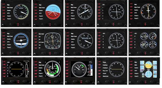 Приборная панель с ЖК-дисплеем для авиасимуляторов Logitech G Saitek Pro Flight Instrument Panel 945-000008