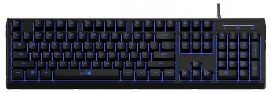 Клавиатура проводная Genius Scorpion K6 USB черный клавиатура genius g kb110x