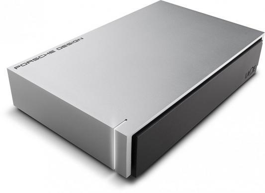 Внешний жесткий диск 3.5 USB3.0 6Tb Lacie Porsche Design Desktop Drive STEW6000400 серебристый накопитель на жестком магнитном диске lacie внешний жесткий диск lacie stfe6000401 porsche design desktop drive 3 5 6tb usb 3 1 light grey