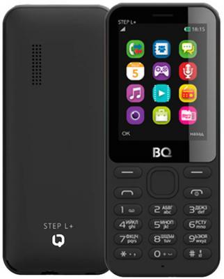 Мобильный телефон BQ BQM-2431 Step L+ черный 2.4 32 Мб чехол ozaki o coat 0 3 jelly для iphone 7 прозрачный oc735tr