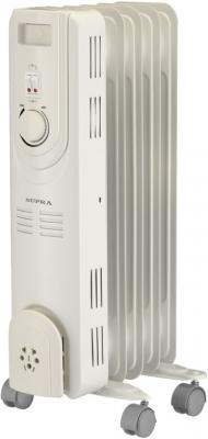 Масляный радиатор Supra ORS-05-S2 1000 Вт ручка для переноски термостат белый