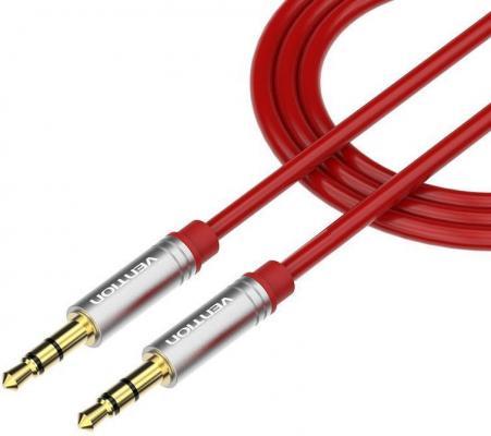 Кабель соединительный 1.0м Vention 3.5 Jack (M) - 3.5 Jack (M) красный P360AC-R100 кабель соединительный 1 5м vention 3 5 jack m 3 5 jack m угловой коннектор p360ac b150 t