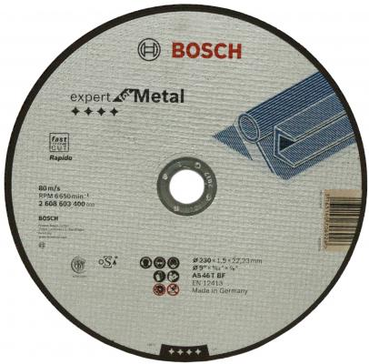 Отрезной круг Bosch ExpertMetal 230x1.9мм 2608603400 круг отрезной bosch по камню 125x22x2 5