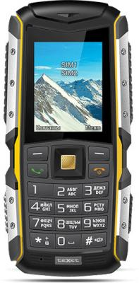 """Телефон Texet TM-512R черный жёлтый 2"""""""