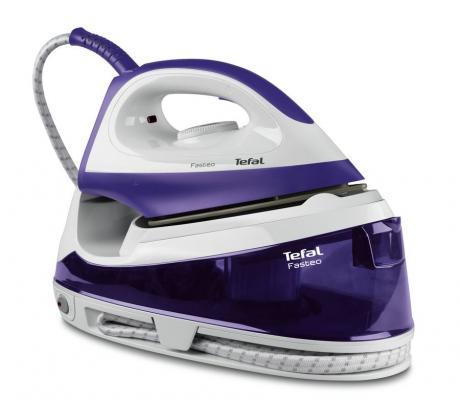 где купить Паровая станция Tefal SV6020E0 2200Вт фиолетовый белый по лучшей цене