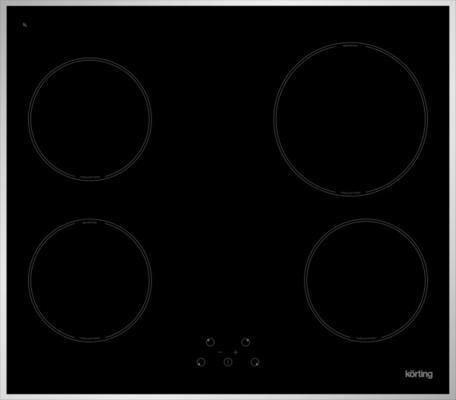 Варочная панель электрическая Korting HI 64021 X черный варочная поверхность korting hi 6402 x