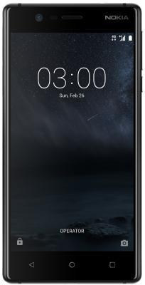 Смартфон NOKIA 3 Dual sim 16 Гб черный (11NE1B01A09) смартфон nokia 7 plus 64 гб черный 11b2nb01a01