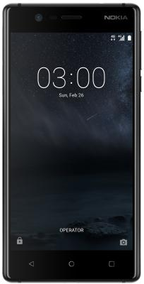Смартфон NOKIA 3 Dual sim 16 Гб черный (11NE1B01A09) nokia nokia 230 черный 1 sim