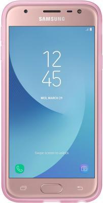 Чехол Samsung EF-AJ330TPEGRU для Samsung Galaxy J3 2017 Jelly Cover розовый чехол клип кейс samsung protective standing cover great для samsung galaxy note 8 темно синий [ef rn950cnegru]