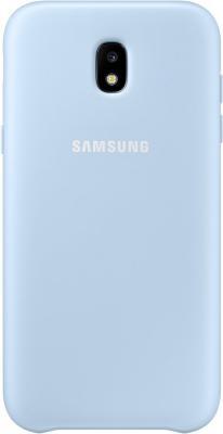 Чехол Samsung EF-PJ330CLEGRU для Samsung Galaxy J3 2017 Dual Layer Cover голубой чехол клип кейс samsung protective standing cover great для samsung galaxy note 8 темно синий [ef rn950cnegru]
