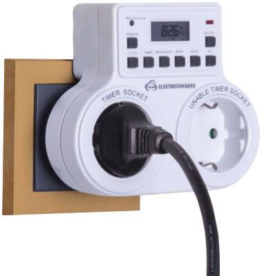 Розетка-таймер Elektrostandard TMH-E-5 16A x2 IP20 Белый 4690389032424 от 123.ru