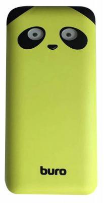 Портативное зарядное устройство Buro RA-10000PD-GN Panda 10000мАч зеленый внешний аккумулятор buro ra 10000pd gn panda 10000 мач зеленый