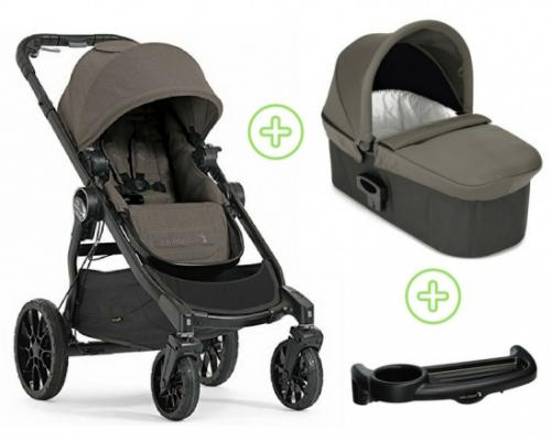 Коляска 2-в-1 Baby Jogger City Select Lux (набор 1/taupe) дождевик baby jogger city select single seat rain canopy