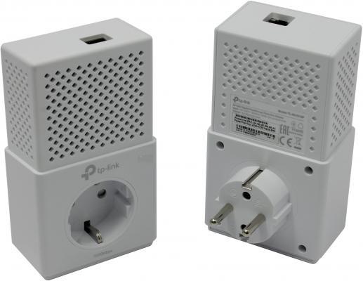 Комплект адаптеров Powerline TP-LINK TL-PA7010PKIT адаптер powerline d link dhp p308av c1b powerline адаптер с поддержкой homeplug av и встроенной электрической розеткой