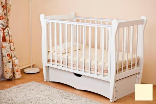 Кроватка с маятником Красная Звезда Сибирочка С777 (слоновая кость) кроватка с маятником sweet baby eligio avorio слоновая кость