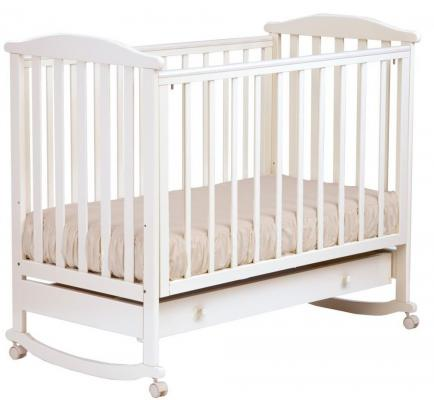 Кроватка-качалка Лель Лютик АБ 15.1 (белый) кроватка качалка лель лютик аб 15 1 орех темный