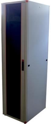 Шкаф напольный 19 42U Estap EVL70142U6080GF1R1 600x800mm передняя дверь одностворчатая стекло с металлической рамой слева и справа задняя дверь одностворчатая металлическая серый