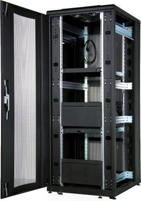Шкаф напольный 19 42U Estap CloudMax CLD70642U8010BF1R1 800x1000mm передняя дверь одностворчатая перфорированная задняя дверь двустворчатая перфорированная черный