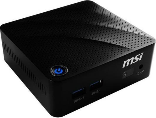 Неттоп MSI Cubi N-060XRU Intel Celeron-N3060 4Gb SSD 64 Intel HD Graphics 400 Без ОС черный 9S6-B12011-060
