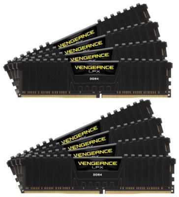 Оперативная память 64Gb (8x8Gb) PC4-21300 2666MHz DDR4 DIMM Corsair CMK64GX4M8A2666C16