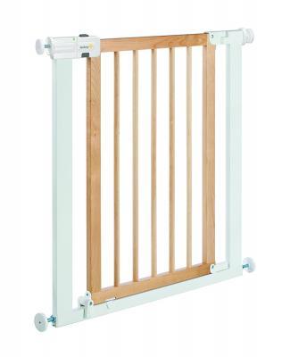 Ворота безопасности 73-80 см Safety 1st Easy Close Wood & Metal (белый-натуральное дерево)