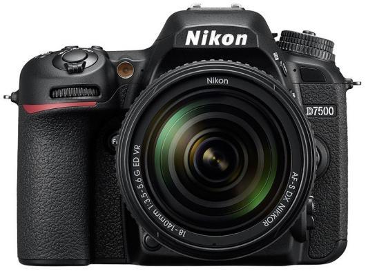 лучшая цена Зеркальная фотокамера Nikon D7500 20.9Mp черный VBA510K002