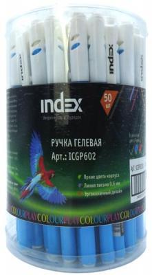 "Гелевая ручка Index ""Colourplay"" синий 0.4 мм ICGP602/BU"