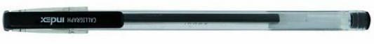 Гелевая ручка Index Calligraph черный 0.5 мм IGP1011/BK гелевая ручка index silver черный 0 5 мм igp113 bk igp113 bk