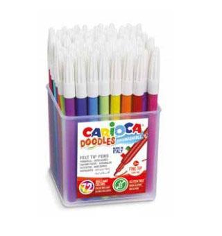 Набор фломастеров CARIOCA Doodles 42261 72 шт разноцветный цена