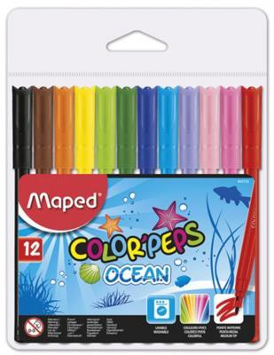 Набор фломастеров Maped Ocean 2 мм 12 шт разноцветный