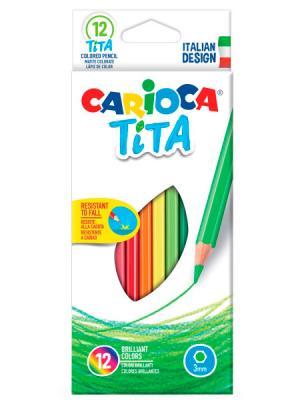 Набор цветных карандашей CARIOCA TITA 12 шт 42793 набор цветных карандашей maped color peps 12 шт 683212 в тубусе подставке