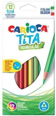 Набор цветных карандашей CARIOCA TITA 12 шт 42786 carioca набор крупных цветных карандашей tita maxi 6 цветов