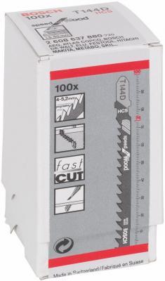 Лобзиковая пилка Bosch T 144 D HCS 100шт 2608637880