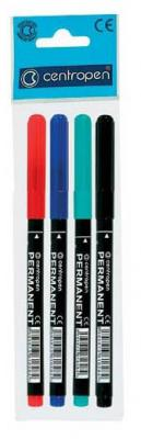 Набор маркеров перманентных Centropen 2536/4PVC 4 шт разноцветный