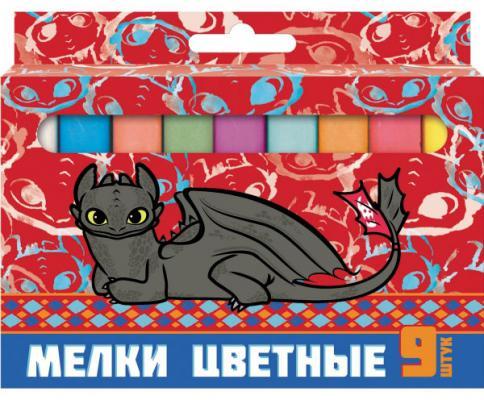 Мелки школьные Action! Dragons DR-CC-9 9 цветов 9 штук от 5 лет цветные карандаши action dragons 18 цветов