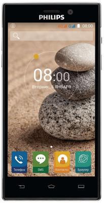 Смартфон Philips Xenium V787+ черный 5 32 Гб LTE Wi-Fi GPS 3G смартфон micromax q334 canvas magnus черный 5 4 гб wi fi gps 3g