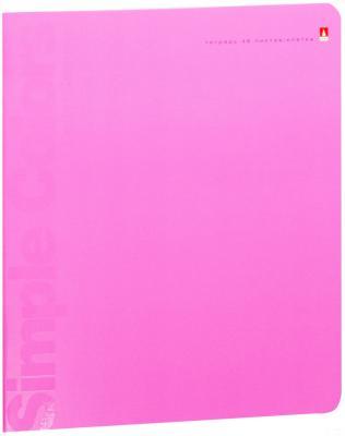 Тетрадь общая Альт Простые цвета 48 листов клетка скрепка 7-48-774/1 в ассортименте