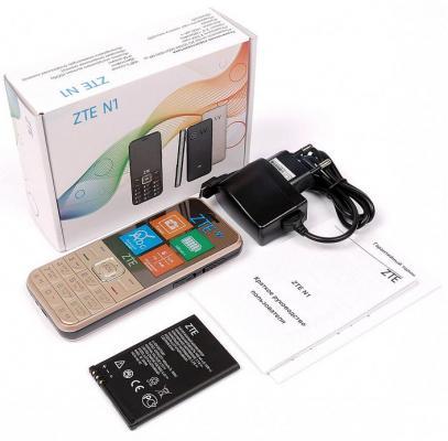 Мобильный телефон ZTE N1 золотистый
