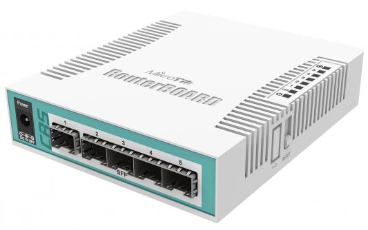Коммутатор Mikrotik CRS106-1C-5S 1xcombo 4xSFP PoE in