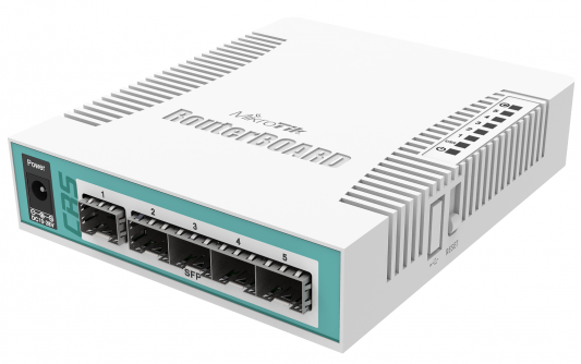 Коммутатор Mikrotik CRS106-1C-5S 1xcombo 4xSFP PoE in коммутатор mikrotik rbd52g 5hacd2hnd tc