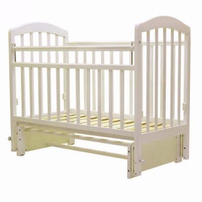Купить Кроватка с маятником Топотушки Лира-5 (арт. 32/слоновая кость), массив березы, Кроватки с маятником
