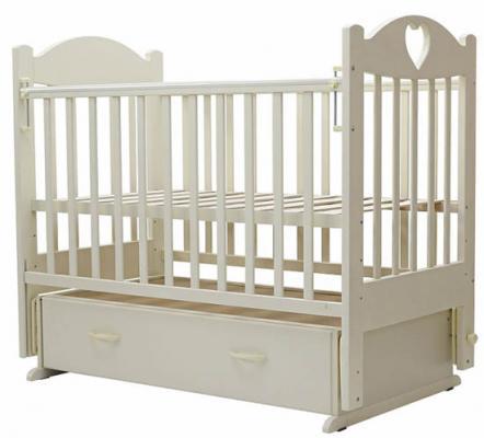 Кроватка с маятником Топотушки Ева-6 (арт. 16/слоновая кость) кроватка с маятником sweet baby eligio avorio слоновая кость