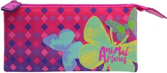 Пенал косметичка Action! Animal Planet. Бабочки AP-APC4216/1/17 сумка action animal planet черный серый оранжевый ap ab12000 2 ap ab12000 2