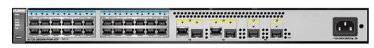 Коммутатор Huawei S1720-28GWR-PWR-4TP-E 24 порта 10/100/1000Mbps 4xSFP 98010752 коммутатор huawei s5720 36c ei ac 24 порта 10 100 1000mbps 4xsfp 02359562
