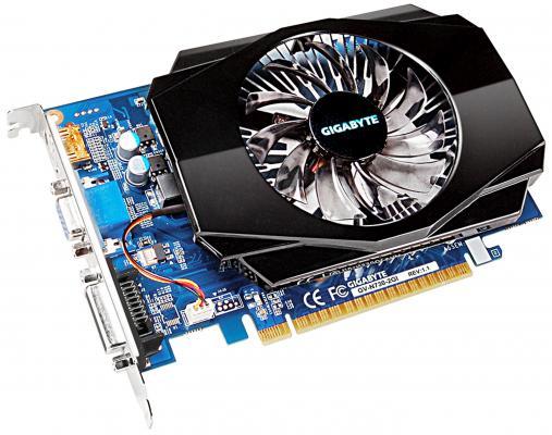 Видеокарта 2048Mb Gigabyte GT730 PCI-E GDDR3 128bit VGA HDMI DVI GV-N730-2GI V1.1 Retail