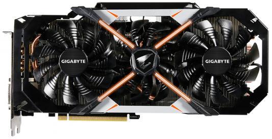 Видеокарта 8192Mb Gigabyte GeForce GTX1080 PCI-E 256bit GDDR5X DVI HDMI DP GV-N1080AORUS-8GD V2 Retail