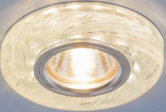 Фото - Встраиваемый светильник Elektrostandard 2191 MR16 CL/BL прозрачный/голубой 4690389096112 cветильник галогенный de fran встраиваемый 1х50вт mr16 ip20 зел античное золото